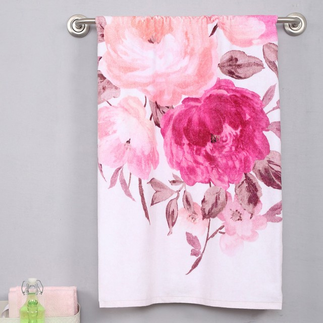 floral print bathtowel for summer