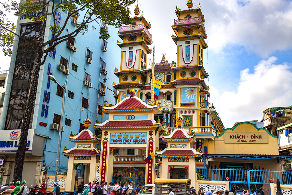 Cao Dai Temple on Tran Hung Dao Street--Saigon