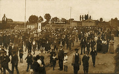 Ávila. 1915. Llegada a la estación de la peregrinación. Foto Fuentetaja. Archivo de D. Bernardino Jiménez