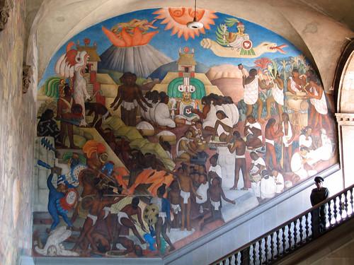 Mexico - Città del Messico - Particolare murale di Diego Rivera al Palacio Nacional