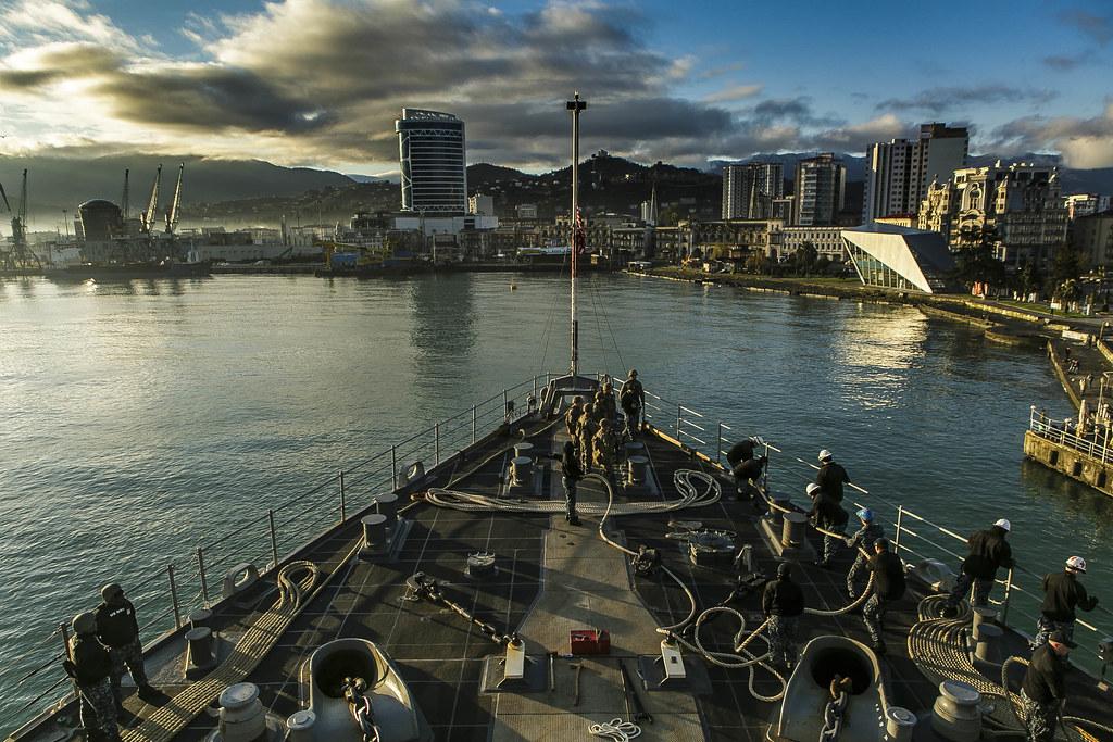 USS Oak Hill, 26th MEU Marines Visit Batumi, Georgia