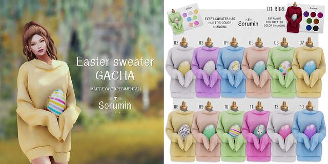 -Sorumin- Easter sweater GACHA @ SaNaRaE