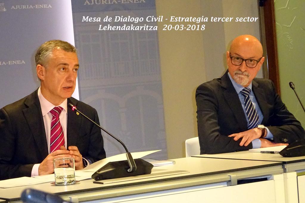 Reunión Lehendakaritza. Mesa Dialogo Civil. Marzo 2018.