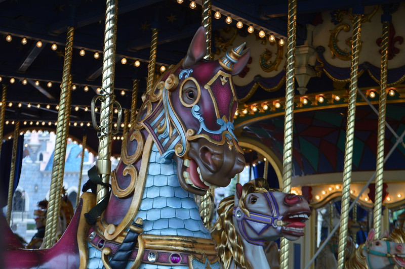 This is a picture of the Disneyland Paris carousel