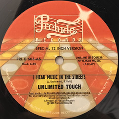 UNLIMITED TOUCH:I HEAR MUSIC IN THE STREETS(LABEL SIDE-A)