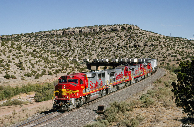 ATSF 124 West at Abo Canyon, NM