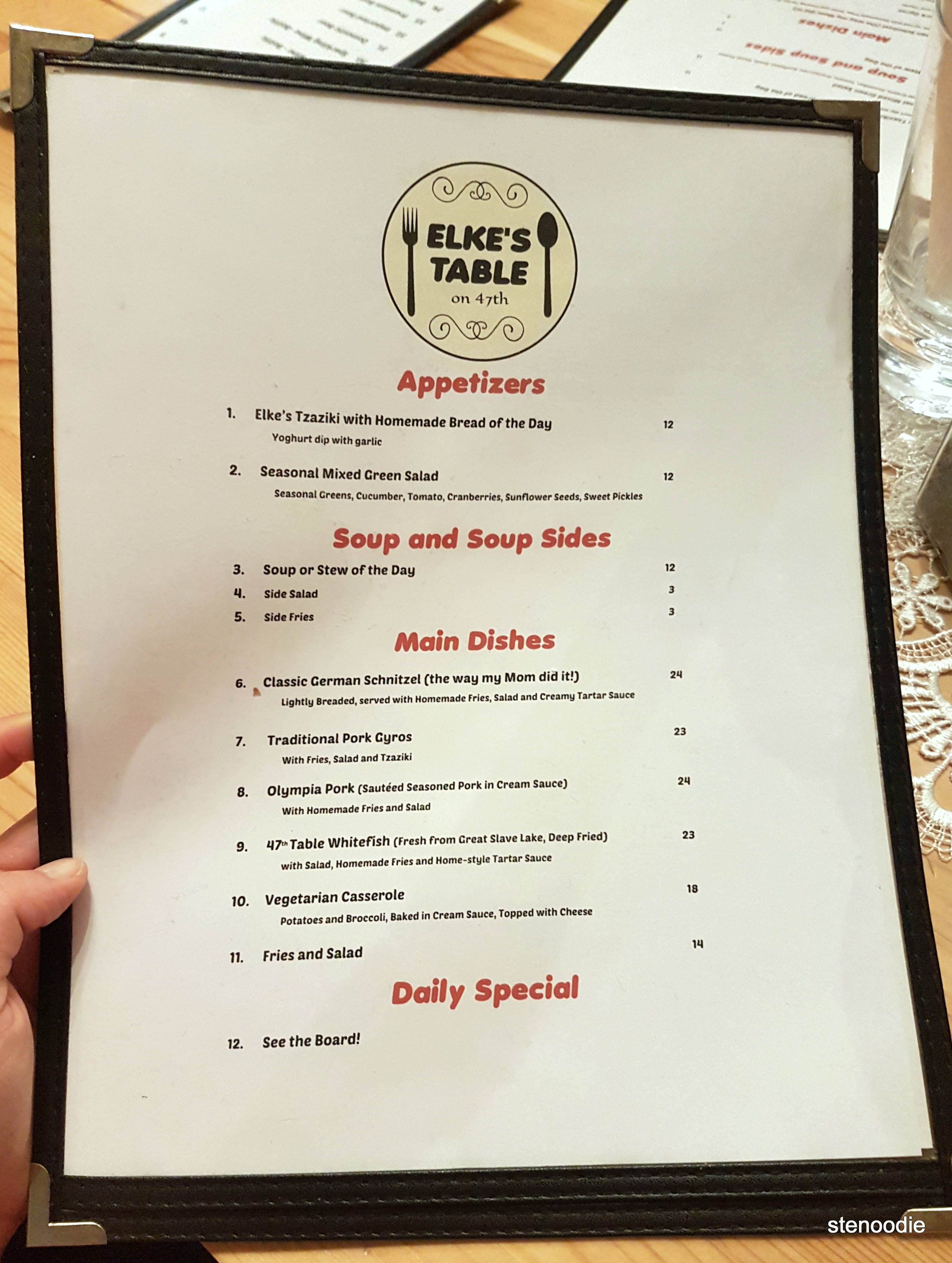 Elke's Table on 47th menu and prices
