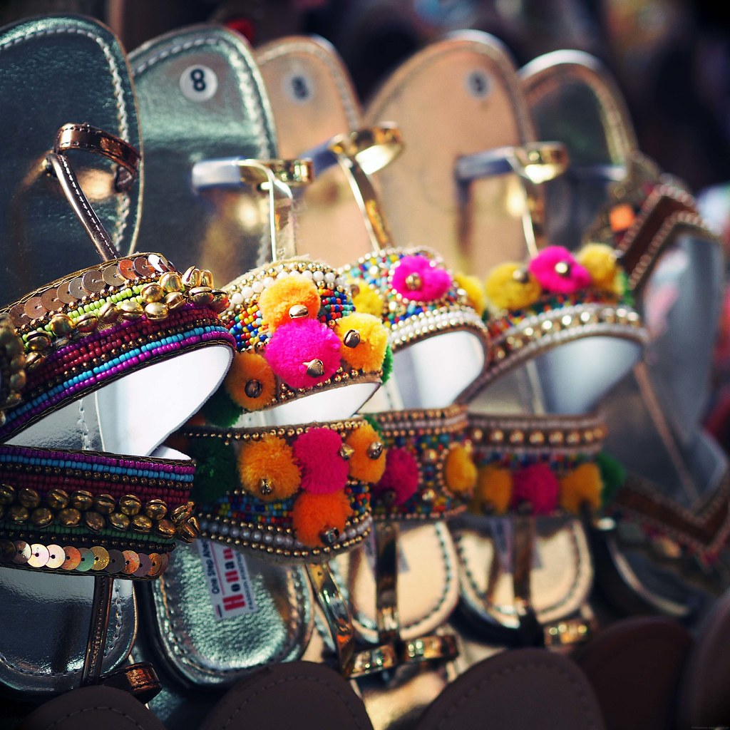 Colourful Pom Pom Sandals India Mumbai Bombay_effected