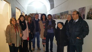 Exposición fotográfica Semana Santa en Piedecuesta Visita de Ana Redondo