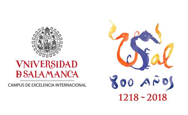 Logotipo del VIII Centenario de la Universidad de Salamanca.