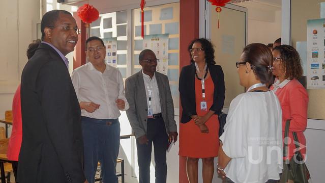 Secretário de Estado Adjunto da Educação visitou a Uni-CV