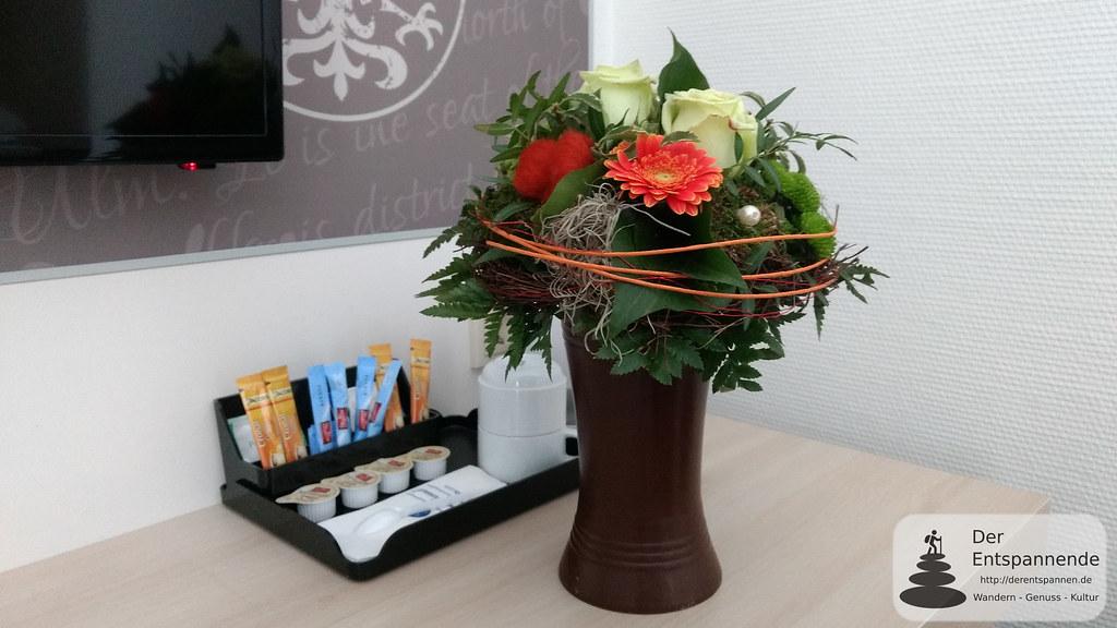 H+ Hotel Limes Thermen Aalen: Gebuchter Blumenstrauß