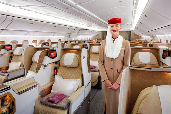 Emirates B777-200LR Business Class with TCP (Emirates)