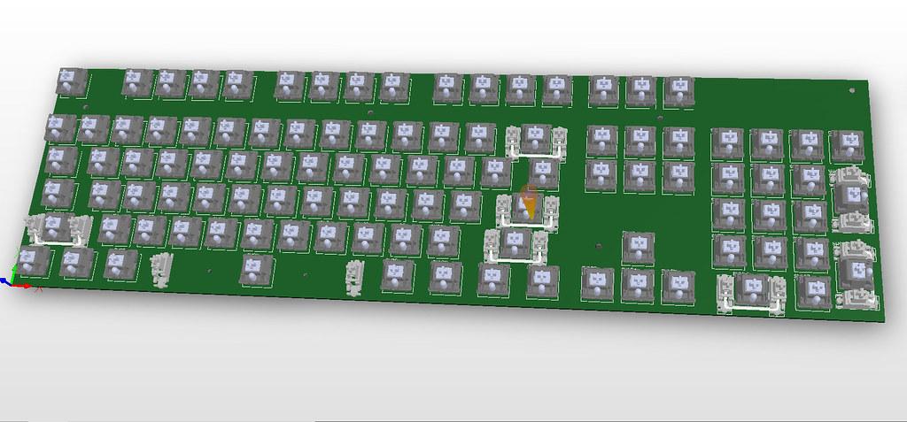 Hybris - A wireless 104 key keyboard from scratch