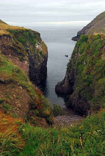 Hidden cove on a one-lane detour on our road trip along the Dingle Peninsula, part of Ireland's 'Wild Atlantic Way'