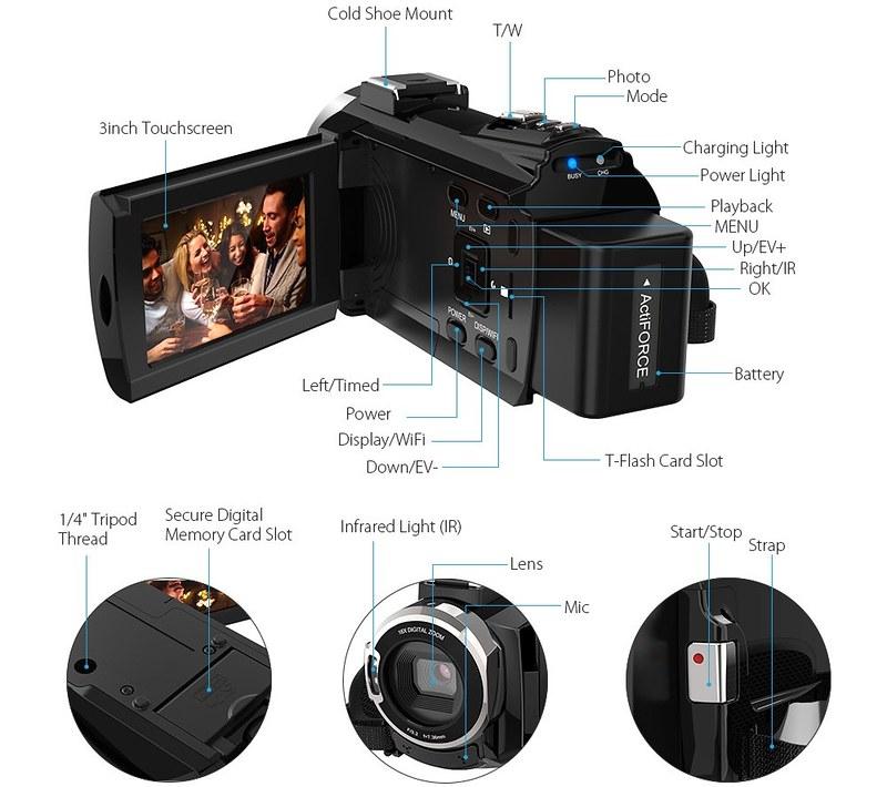 Andoer 4K ビデオカメラ (10)