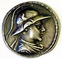 Ready copy Tetradrachm, Eukratides I of Bactria obverse