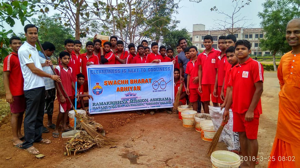 Swachha Bharat Abhiyan, Ramakrishna Mission, Hatamuniguda (Odisha)