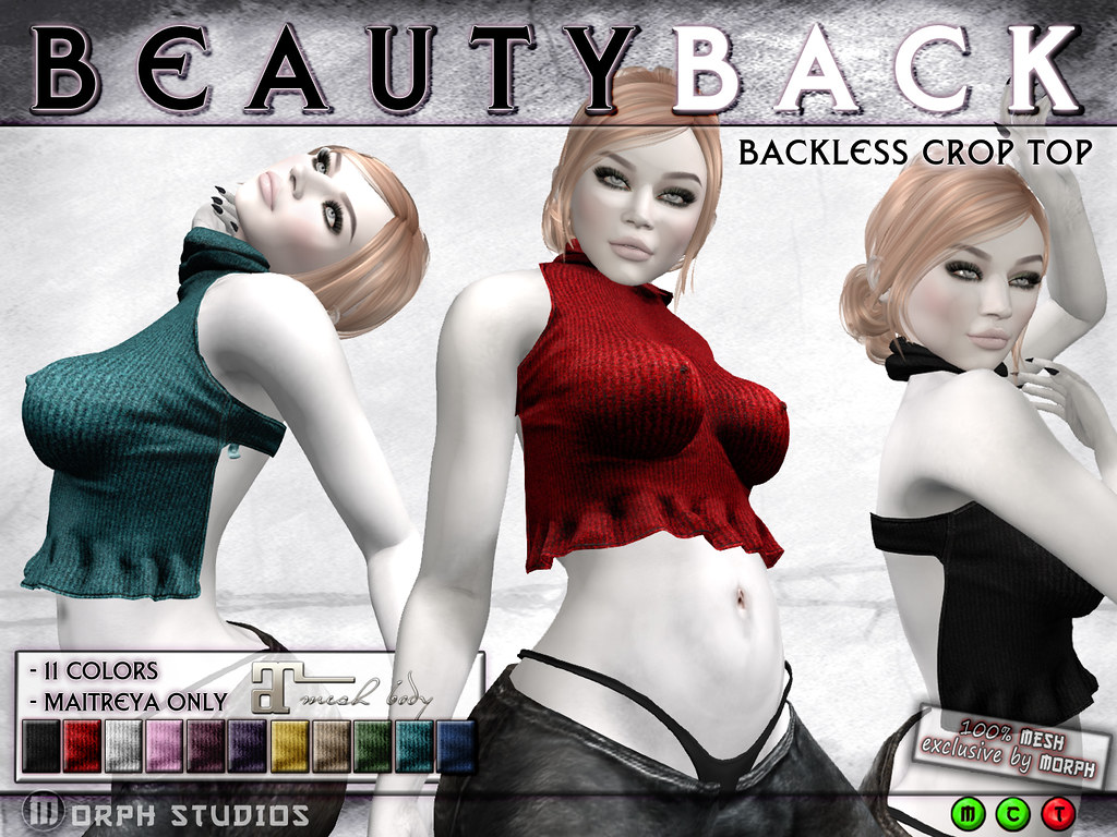 0o Morph BeautyBack Crop Top