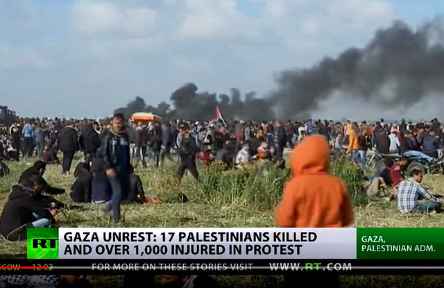 Max Blumenthal: Israel Massacres Unarmed Gaza Protesters + At Least 17 Palestinians Killed, Over 1000 Injured
