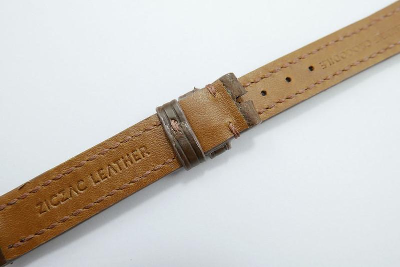 d33e410d81d 14mm 14mm Coffee Brown Genuine Crocodile Skin Leather Watch Strap ...