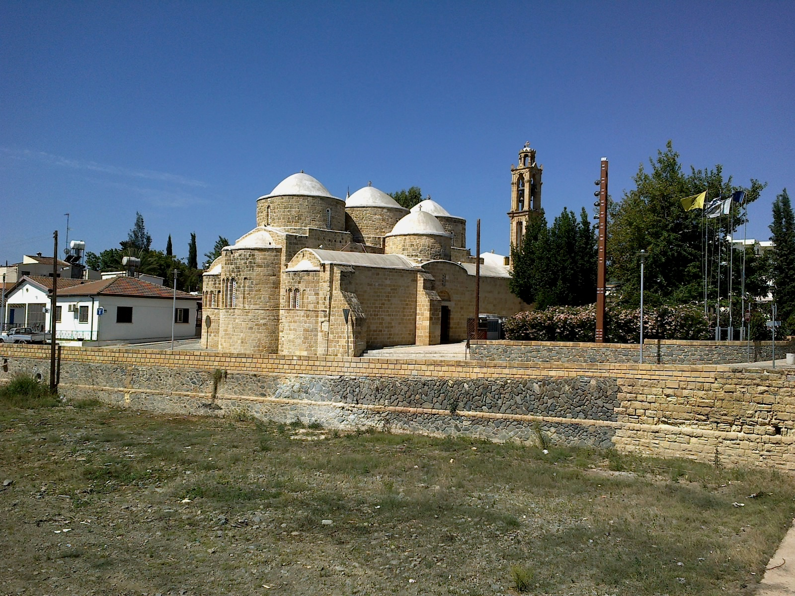 Saints Barnabas and Hilarion Church in Peristerona, Cyprus. Photo taken on June 16, 2014.