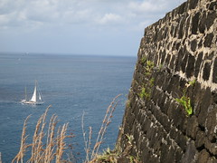 Fort Rodney Wall and Sailboat