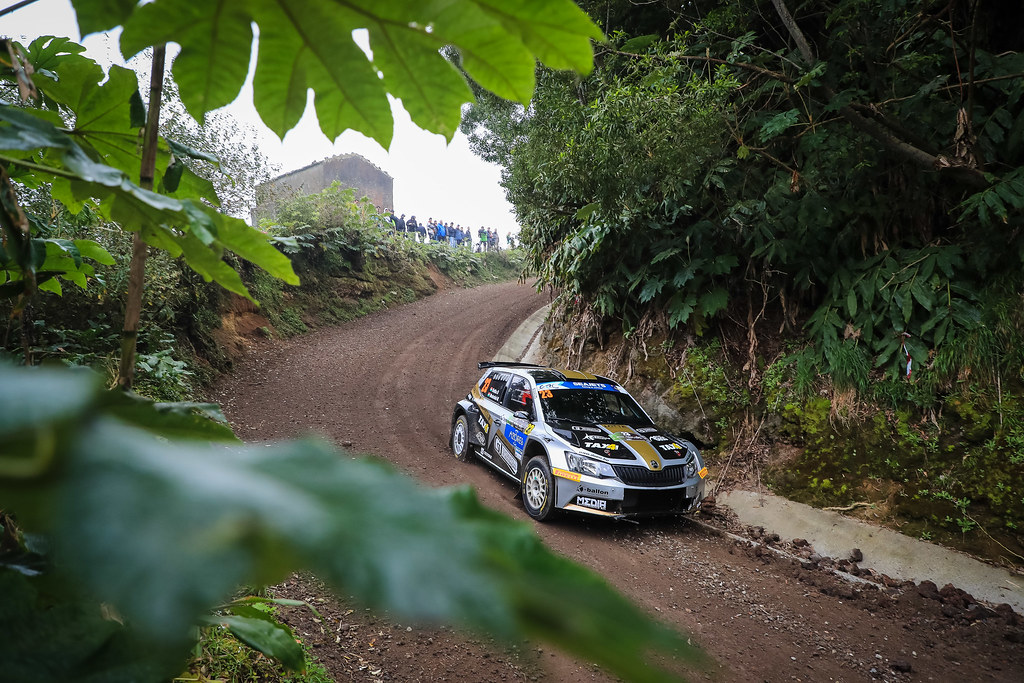 23 BOTKA David (hun), MESTERHAZI Mark (hun), SKODA FABIA R5, action during the 2018 European Rally Championship ERC Azores rally,  from March 22 to 24, at Ponta Delgada Portugal - Photo Jorge Cunha / DPPI