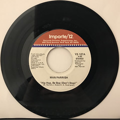 MAN PARRISH:HIP HOP BE BOP(DON'T STOP)(RECORD SIDE-A)