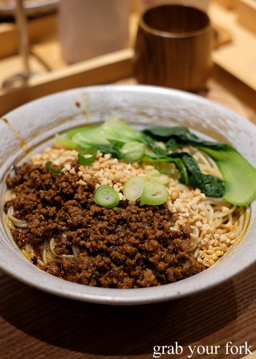 Dan dan noodles at Mr Meng Chongqing Gourmet in Market City Chinatown Sydney