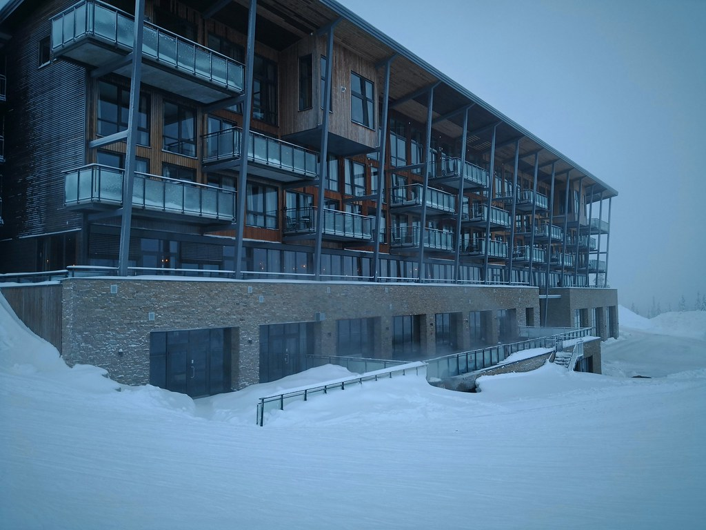 Hotel view from the slopes