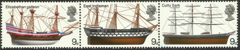 Great Britain - Scott #576-578 (1969) strip.
