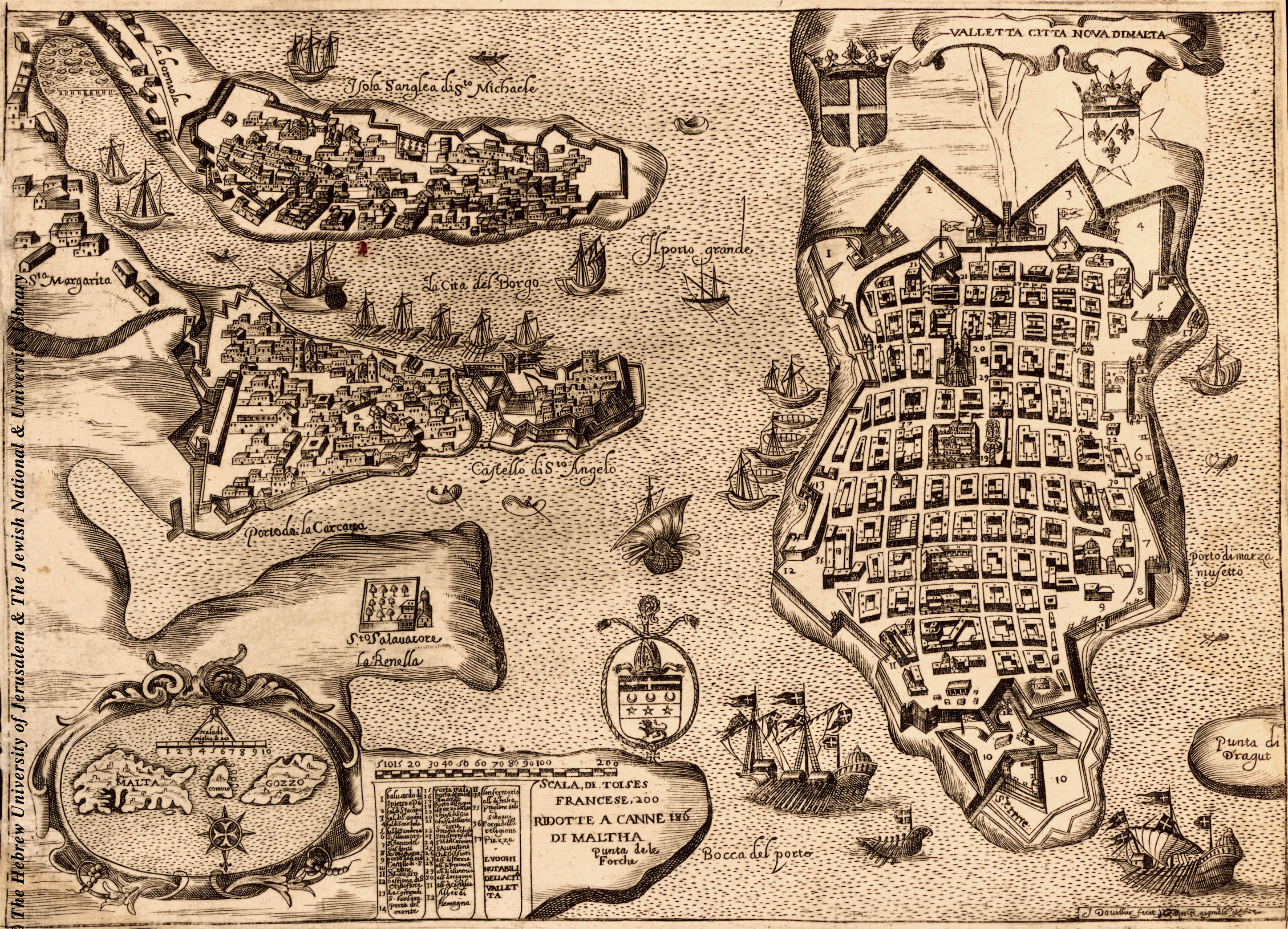 Map of Valletta, 1643
