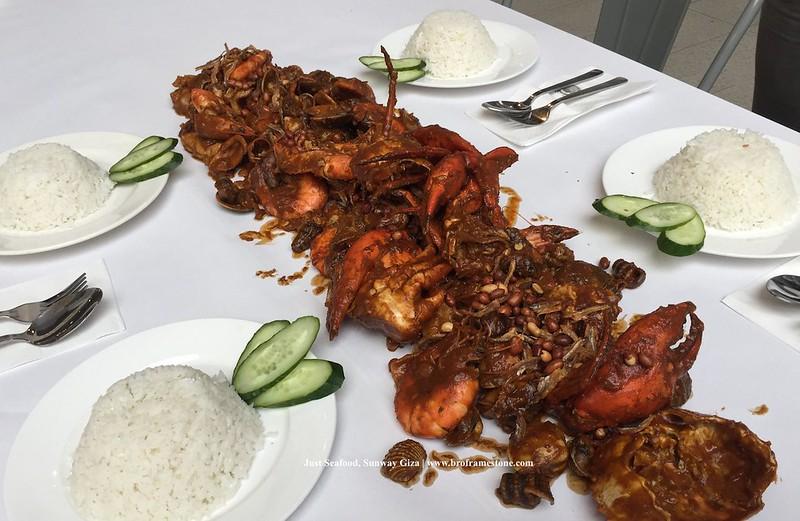 Nasi Lemak Cajun Just Seafood, Sunway Giza