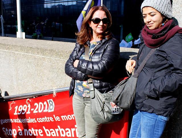 Manifestatie tegen racisme // Liesbeth