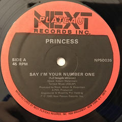 PRINCESS:SAY I'M YOUR NUMBER ONE(LABEL SIDE-A)