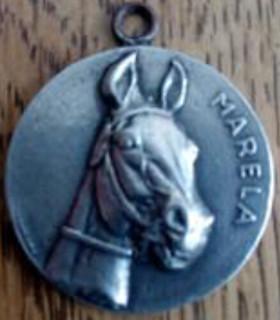 racehorse Marela medal obverse