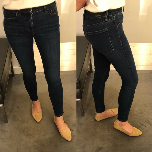 Ann Taylor Modern All Day Skinny Jeans in Mariner Wash, size 24P