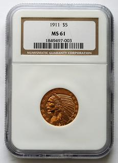 NGC 1911 $5 obverse