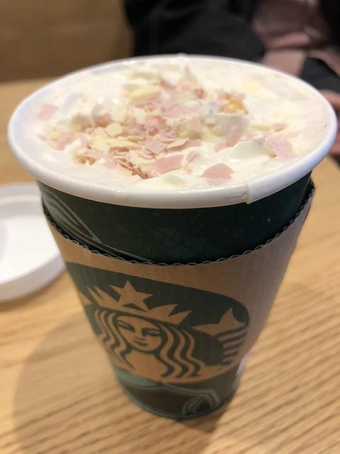 Cherry blossom latte