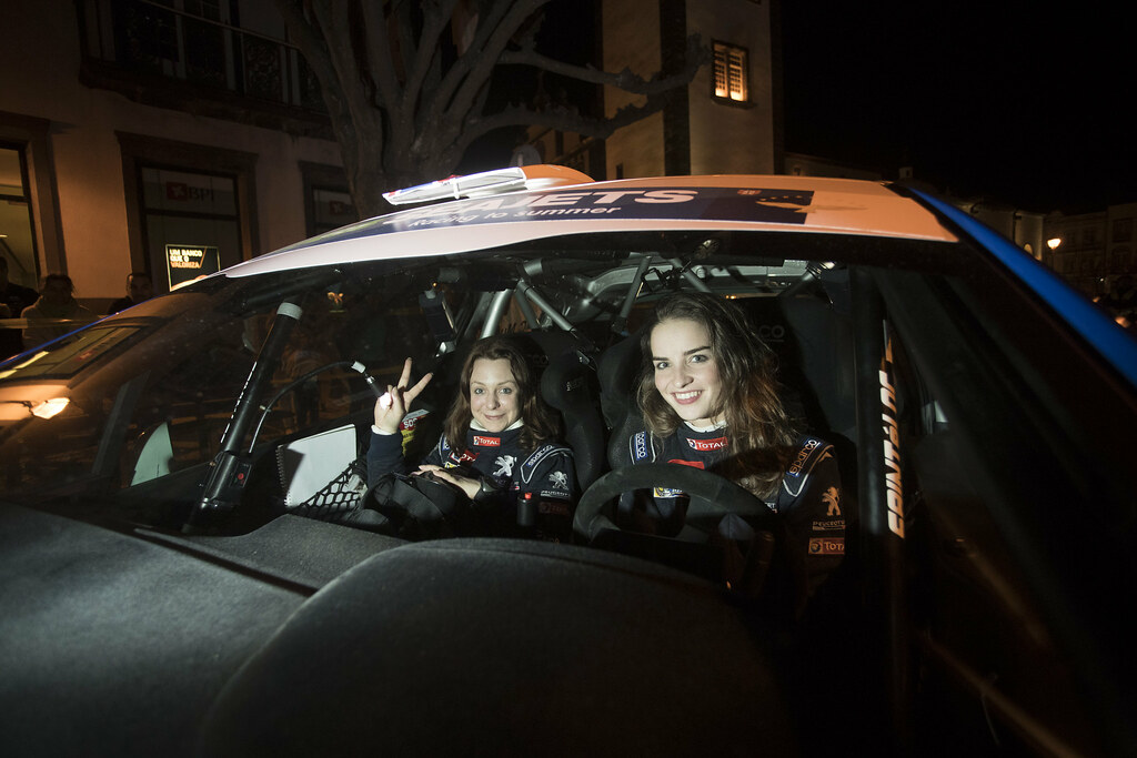 45 MUNNINGS Catie (gbr) STEIN Anne Katharina (deu), Sainteloc junior Team, Peugeot 208 R2, portrait during the 2018 European Rally Championship ERC Azores rally,  from March 22 to 24, at Ponta Delgada Portugal - Photo Gregory Lenormand / DPPI