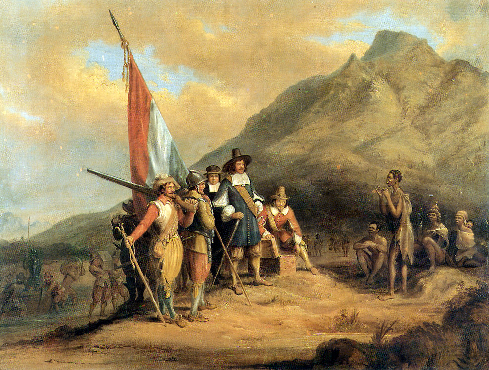 Arrival of Jan van Riebeeck in Table Bay by Charles Bell