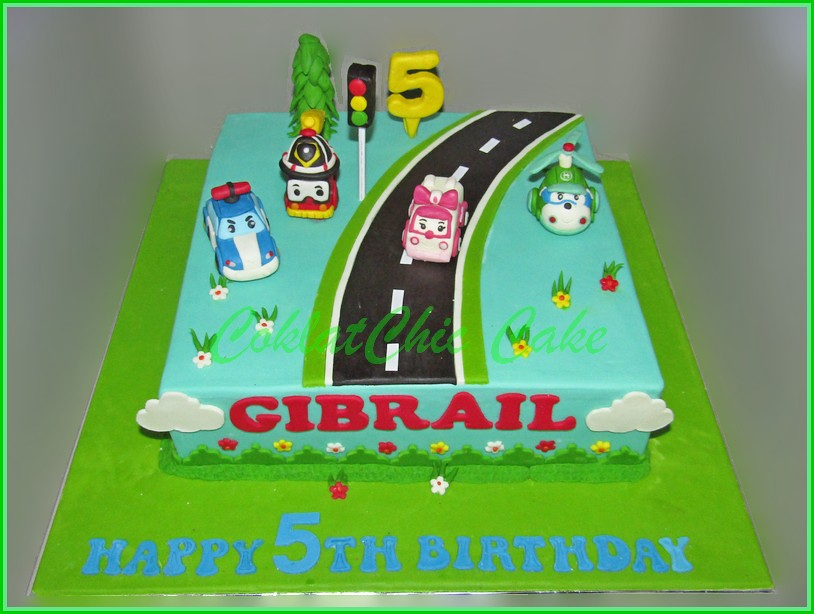 Cake Robocar Poli GIBRAIL 24 cm
