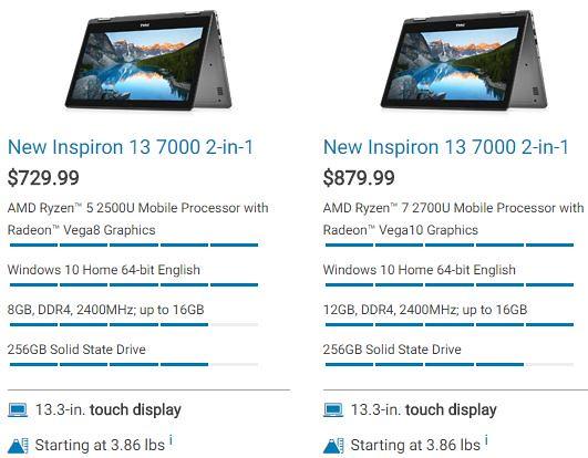 Dell Inspiron 13 7000 : Un convertible 13 3 pouces sous AMD Ryzen