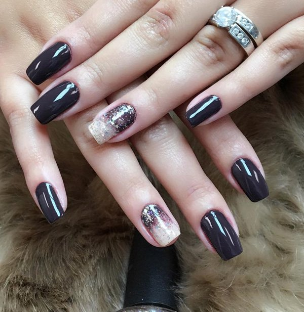 97+ Dark Nails 2018 Trends from Instagram