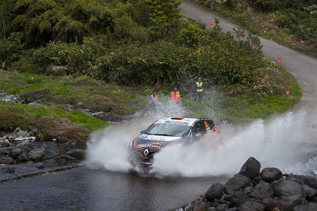 53 ANTUNES Gil (prt), CORREIRA Diogo (prt),  Renault Clio  RS R3T, action during the 2018 European Rally Championship ERC Azores rally,  from March 22 to 24, at Ponta Delgada Portugal - Photo Gregory Lenormand / DPPI