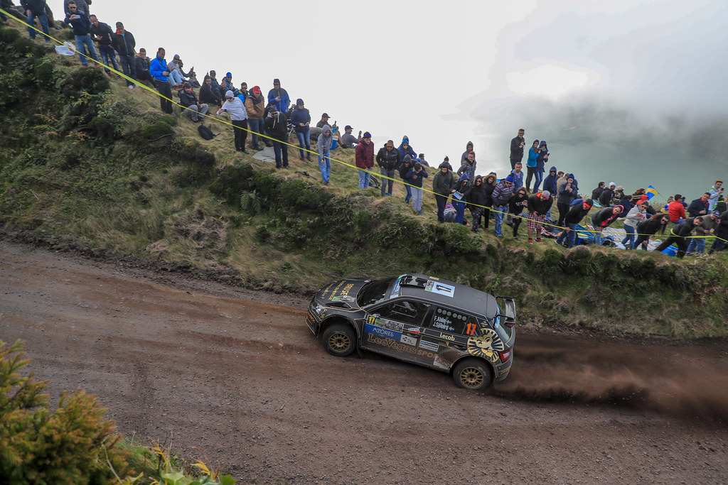 17 AHLIN Fredrik (swe), SJOBERG Joakim (swe), SKODA FABIA R5, action during the 2018 European Rally Championship ERC Azores rally,  from March 22 to 24, at Ponta Delgada Portugal - Photo Jorge Cunha / DPPI