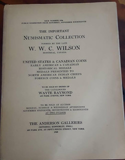 Stockley March 2018 sale Lot 2 Wilson sale title page