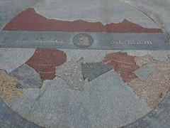 Boston Marathon Map at Copley Square
