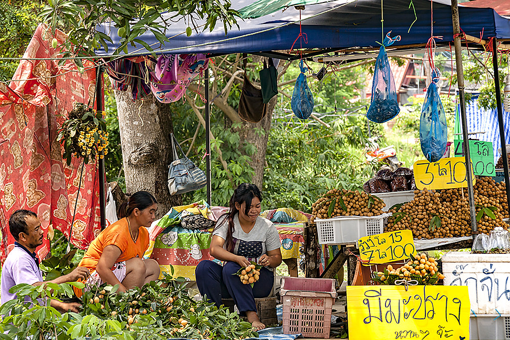 Roadside fruit stand--Chanthaburi